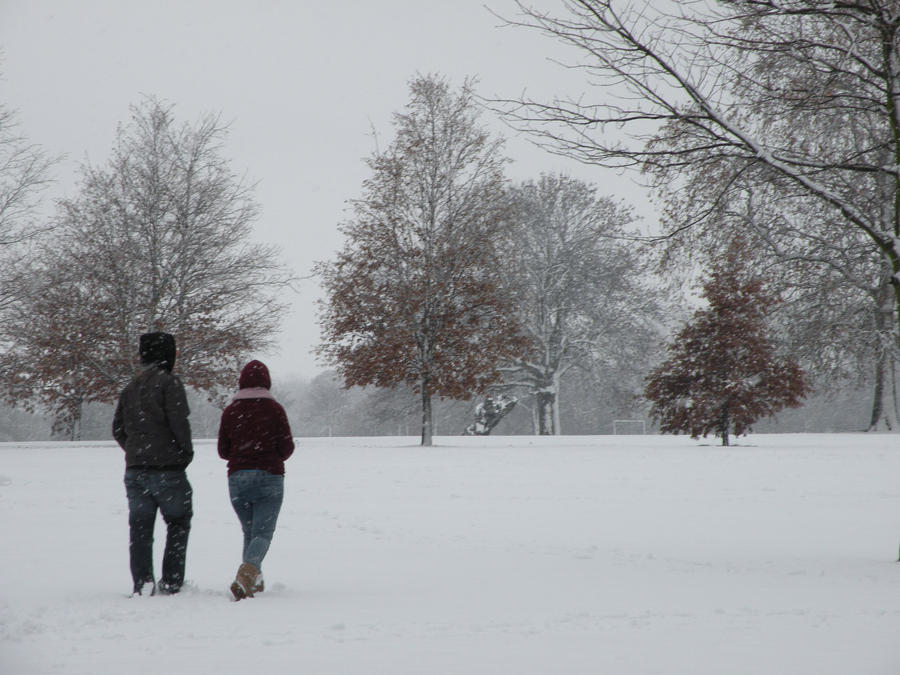 walking in the snow - photo #4