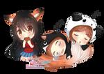 c: Mako with her Sleeping Friends by AtelierAstarotte