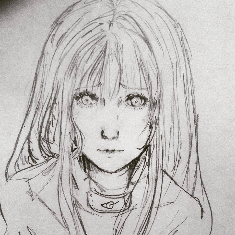 hinata hyuga realistic drawing by ShitsujiMatryoShka on
