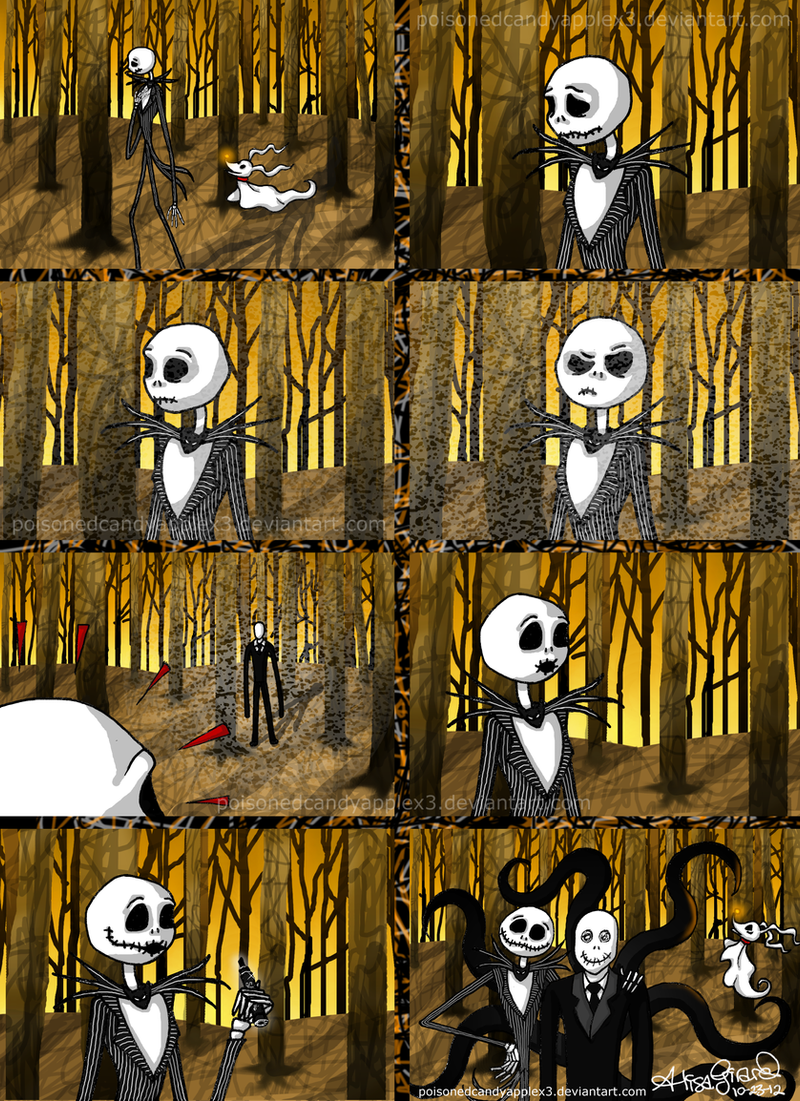 Jack Skellington meets Slender Man by OdieFarber