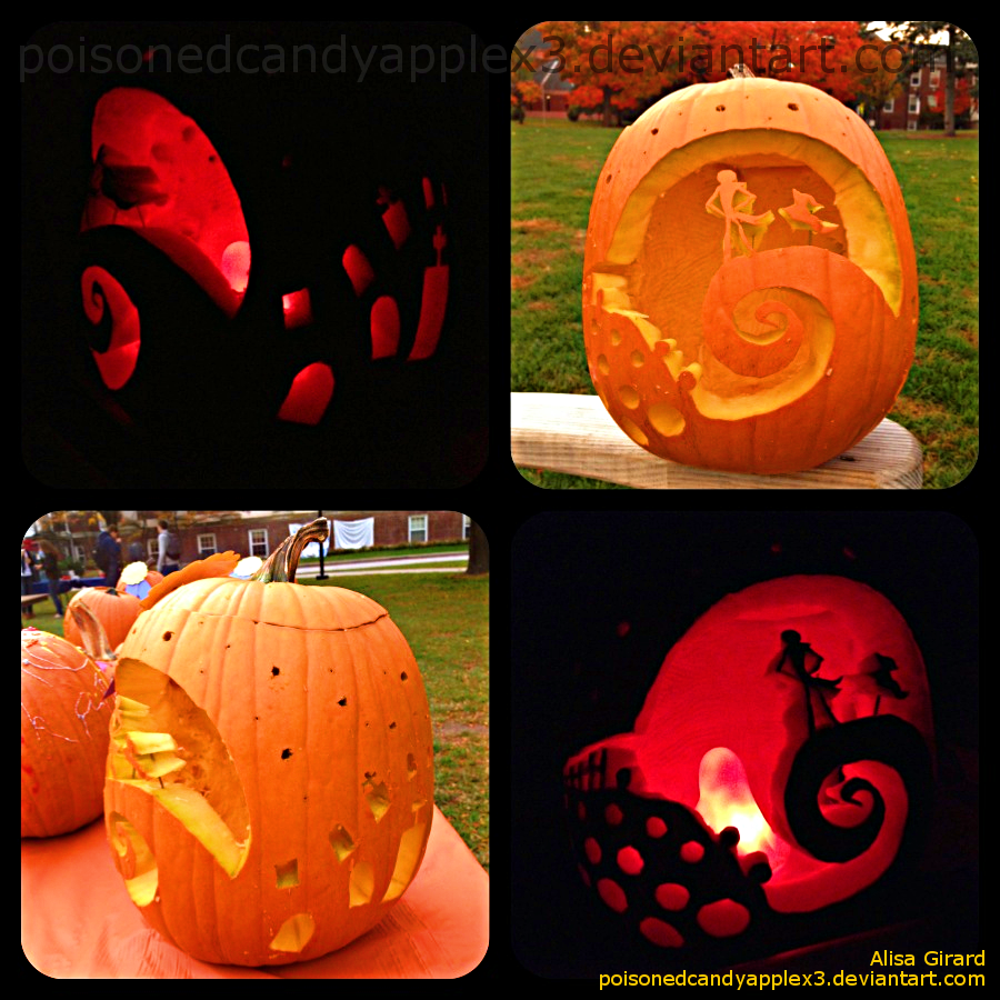 The Nightmare Before Christmas Pumpkin Carving 2 by alisagirard
