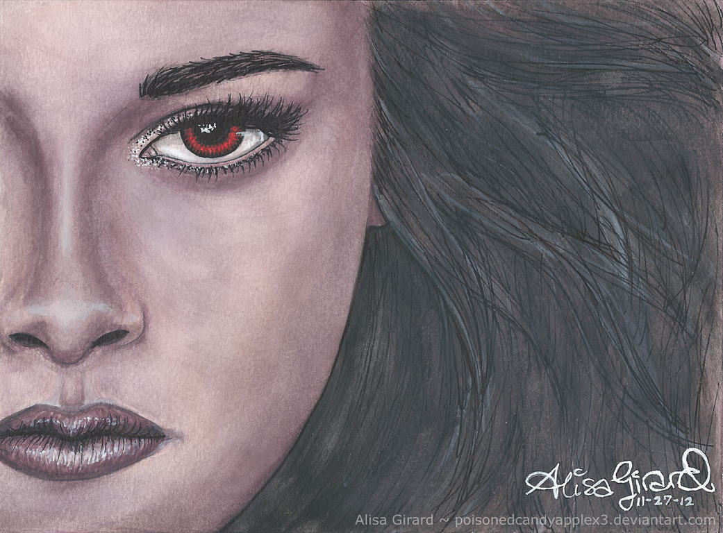 Watercolor: Breaking Dawn Part 2: Bella Close-up by OdieFarber