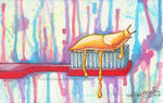 Watercolor: Don't Forget to Brush by OdieFarber