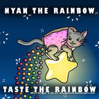 Nyan Cat Skittles Mash Up: Nyan the rainbow by OdieFarber
