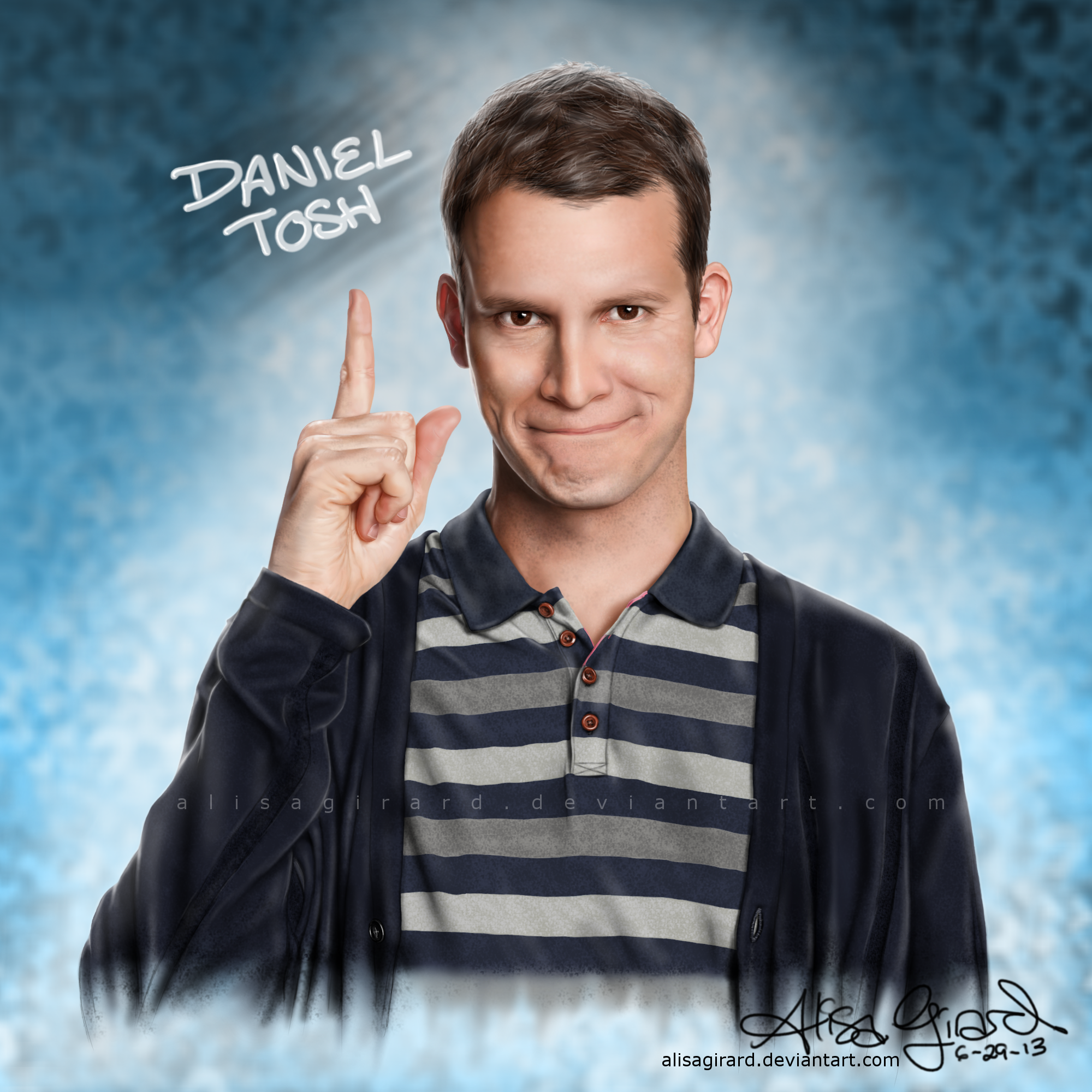 Daniel Tosh drawing, host of Tosh.0 by alisagirard