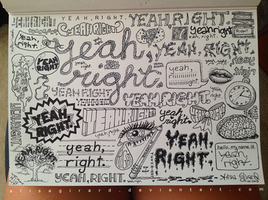 Doodle: Yeah Right by OdieFarber
