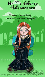 At the Disney Hairdresser: Merida by OdieFarber