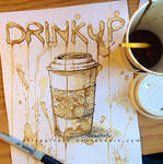 Coffee Painting: Drink Up