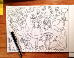 Alice in Doodleland by OdieFarber