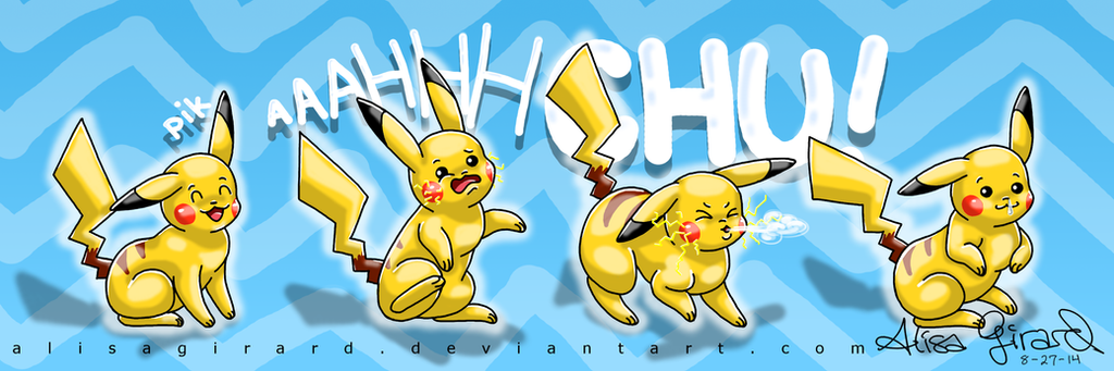 Pokemon: Pikachu Sneeze by alisagirard