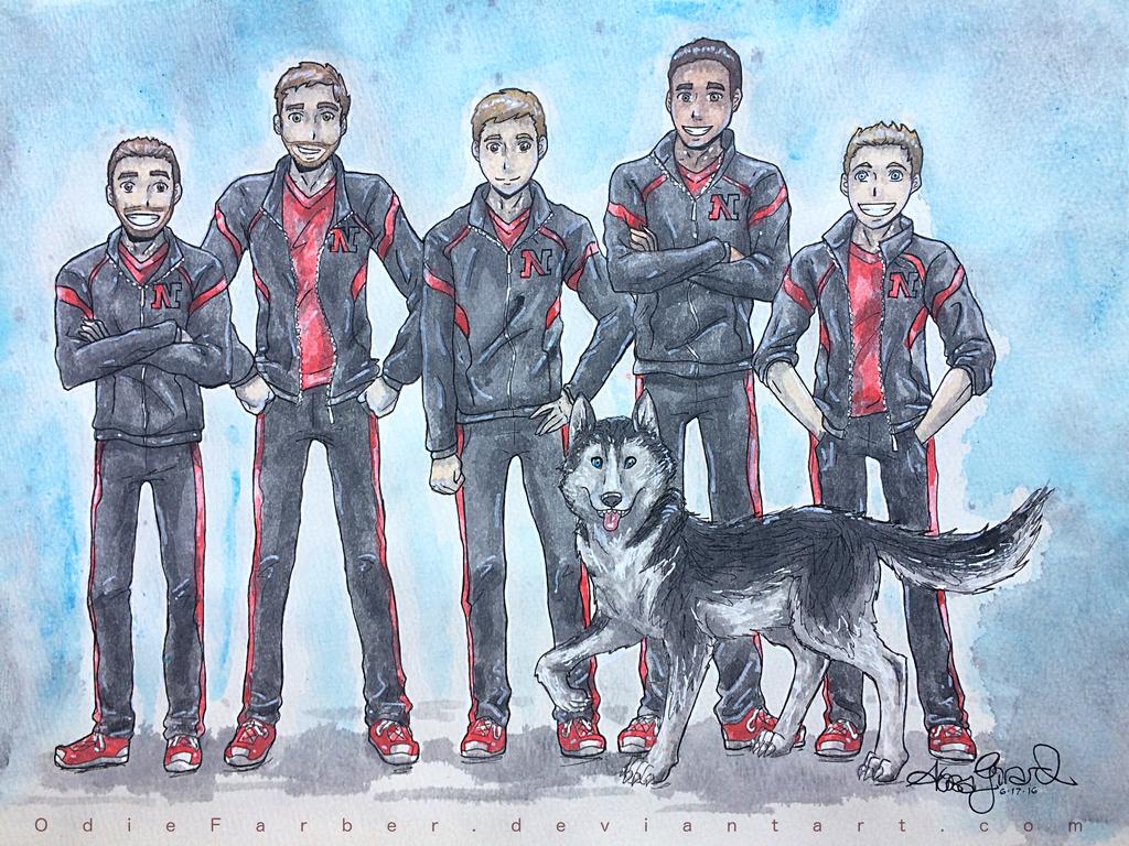 Husky Squad by OdieFarber