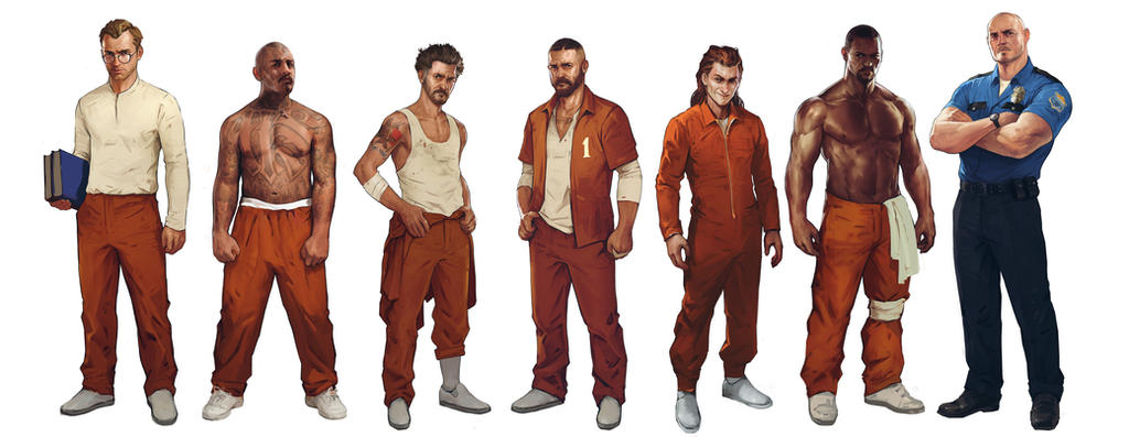 I am introducing you a bunch of bad guys. Prisoner by Denstarsk8