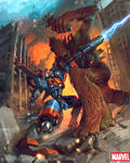 Groot vs Rocket Racoon