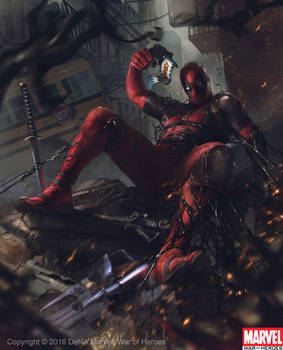 Deadpool vs Venom Symbiote