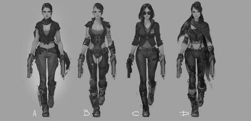Rough character concept by Denstarsk8