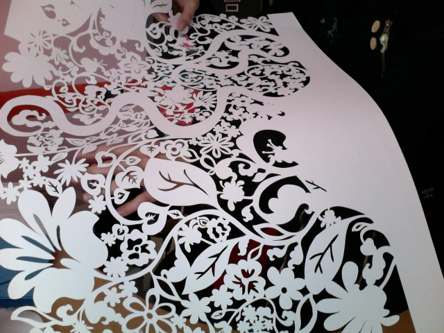 Flowers paper lace