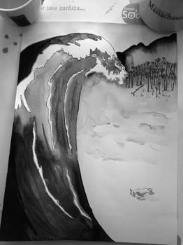 Tsunami on Matsushima