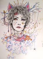 Doodle- Girl by Doringota