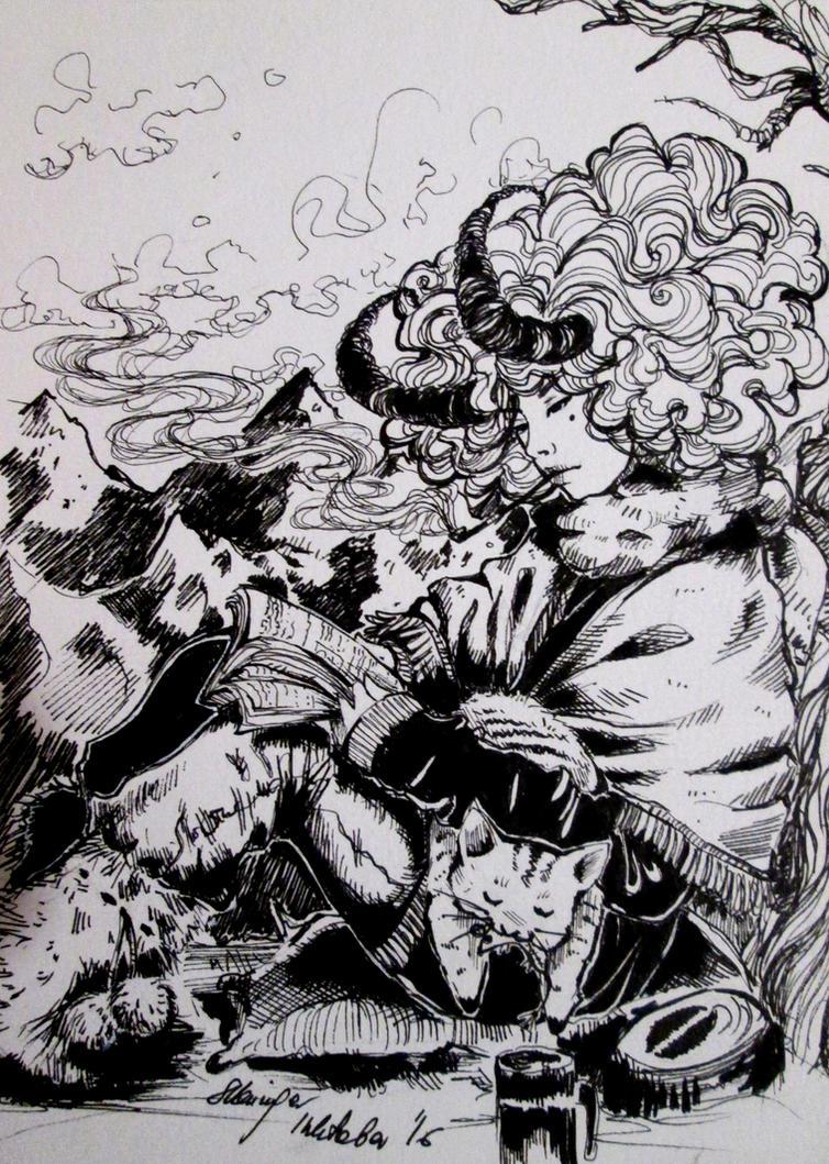 Inktober (Devil 19/31) by Doringota