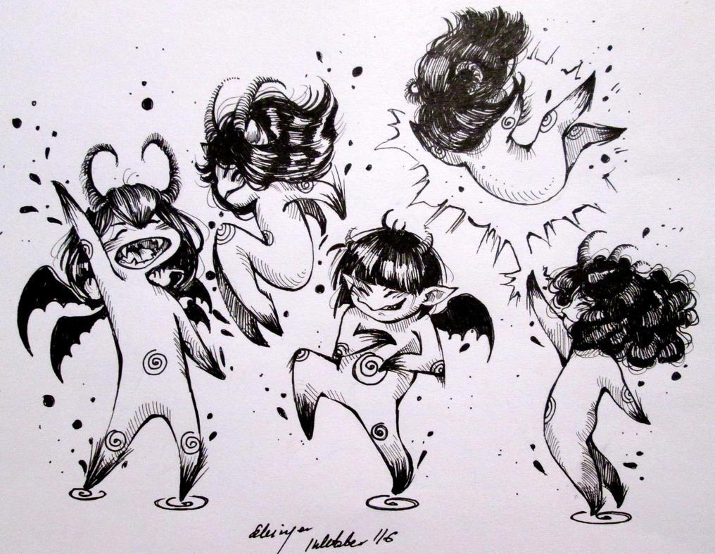 Inktober (Devil 21/31) by Doringota