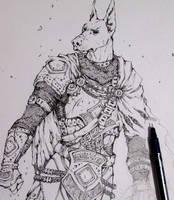 WIP Anthro Knight by Doringota