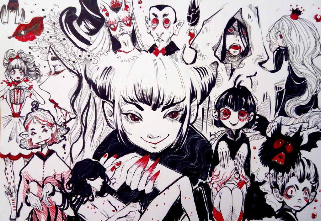 Sketchbook: Vampires by Doringota