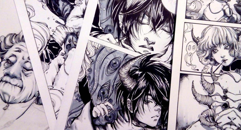 Random frames from my comic book :D by Doringota