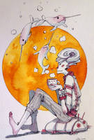 Sketchbook: Tea time by Doringota