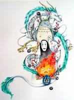 Ghibli Tattoo by Doringota