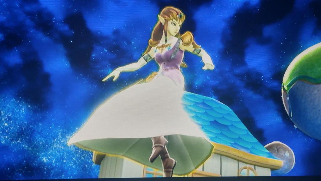 Ssb screenshot: Zelda entering the galaxy by zeldacomixmaker