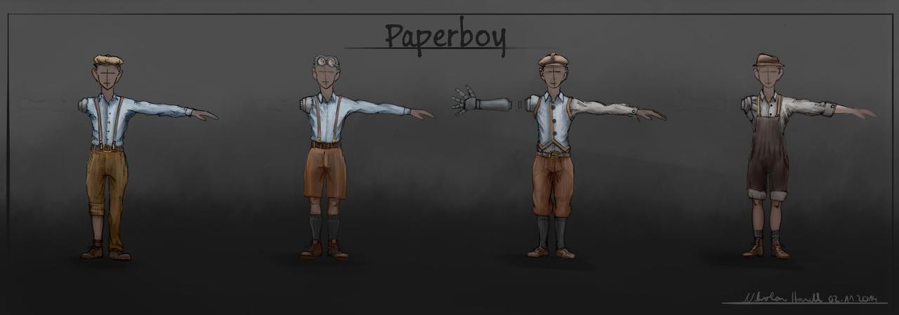 Protagonist Paperboy by 4drenalini