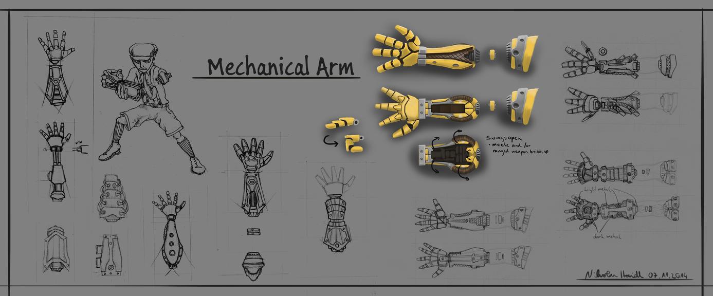Mechanical Arm Concepts by 4drenalini