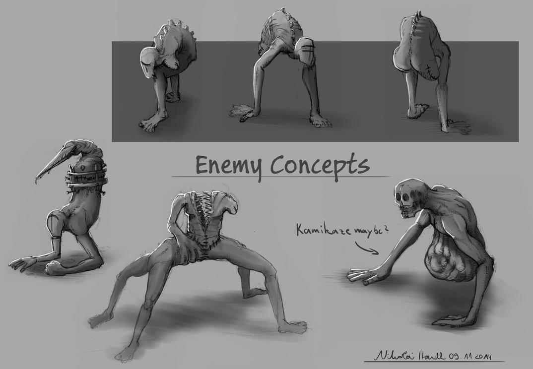 Enemy Concepts by 4drenalini