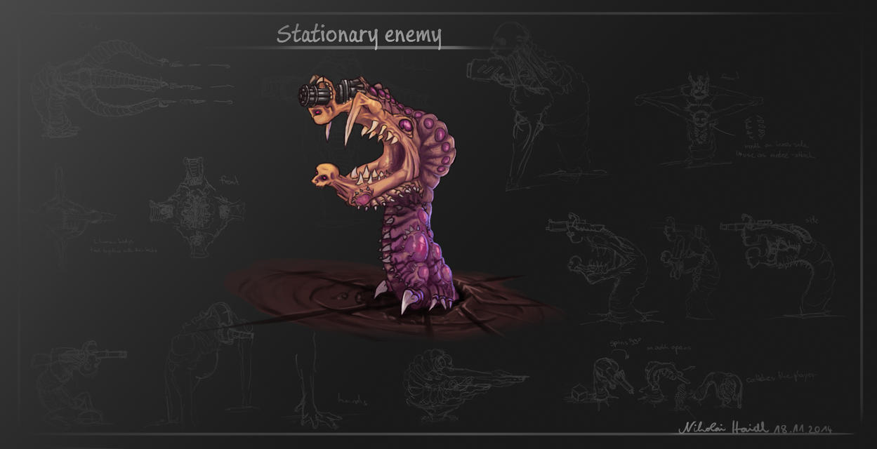 Stationary Enemy by 4drenalini