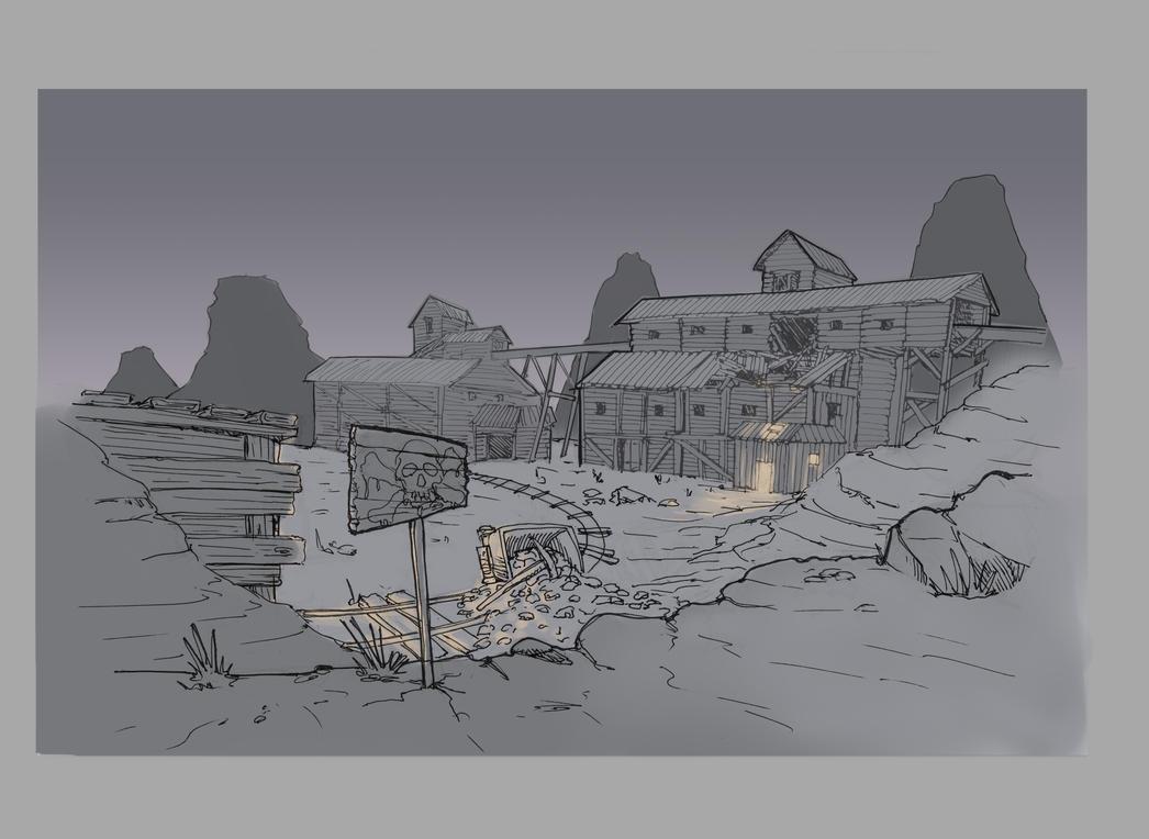 Old Western Mine by 4drenalini