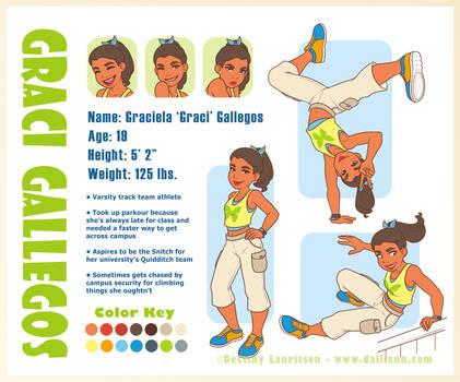 Character Design Challenge #1 - Graci by Dalliann