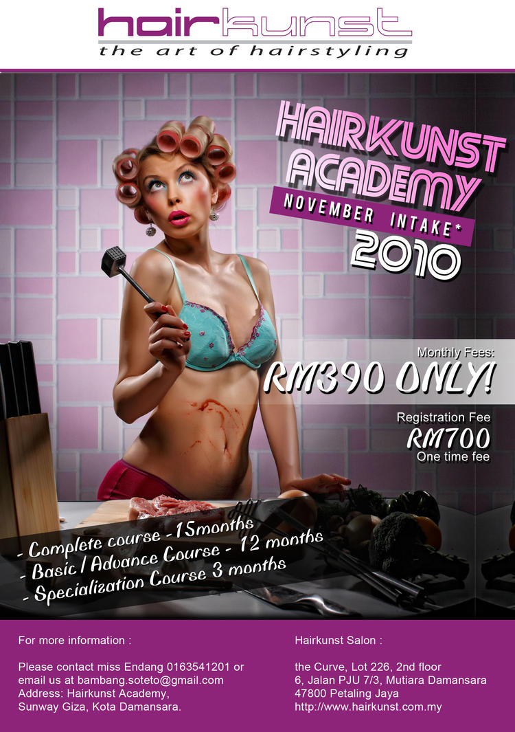 Hairkunst Academy Flyers by SANNarts