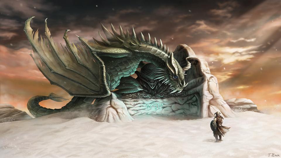 The Elder Scrolls : Skyrim Fanart by truejjack