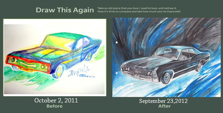 Draw This Again - Chevy Impala 67 by snowmarite