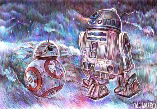 Star Wars VII fanart/ BB-8 and R2-D2