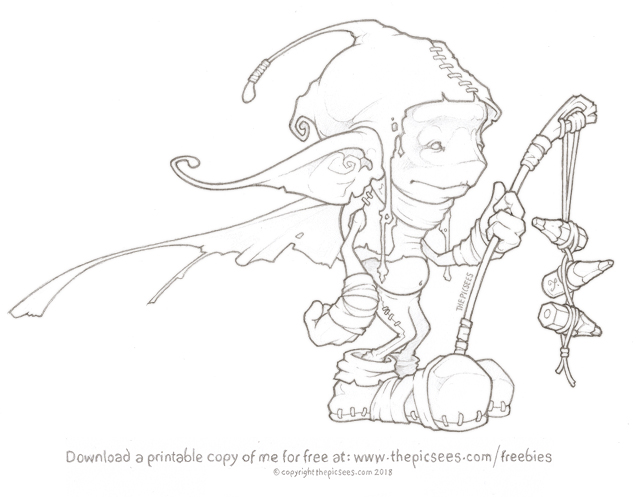 A Colouring page of Keecu the Gatekeeper... by thePicSees