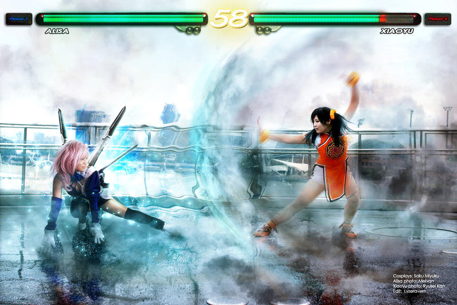 Alisa Bosconovitch VS Ling Xiaoyu by SakuMiyuku