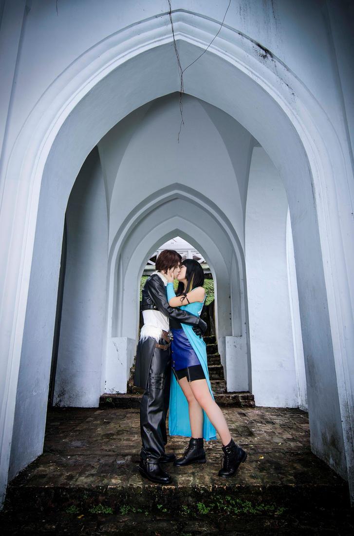 Squall And Rinoa Kiss Squall And Rinoa a Kiss Under