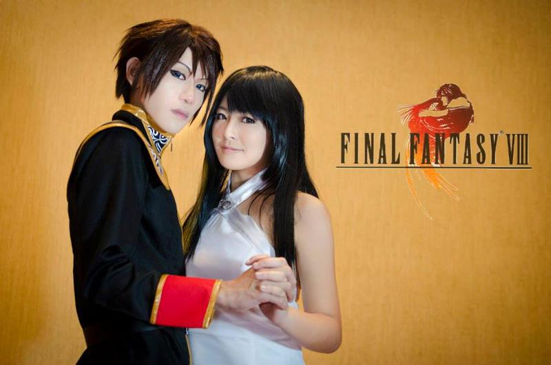 Squall and Rinoa: Ballroom by SakuMiyuku