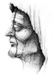 Blind necromancer by EvilEggy