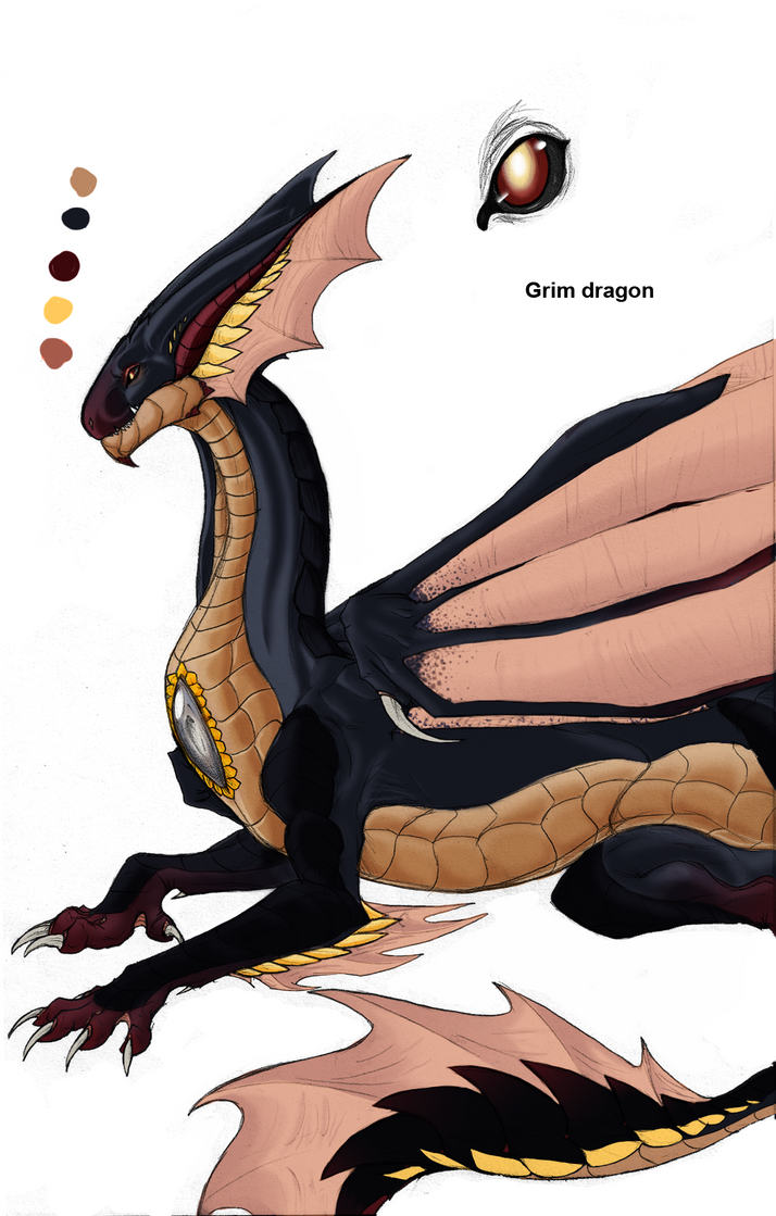 Grim Dragon by Meegz0