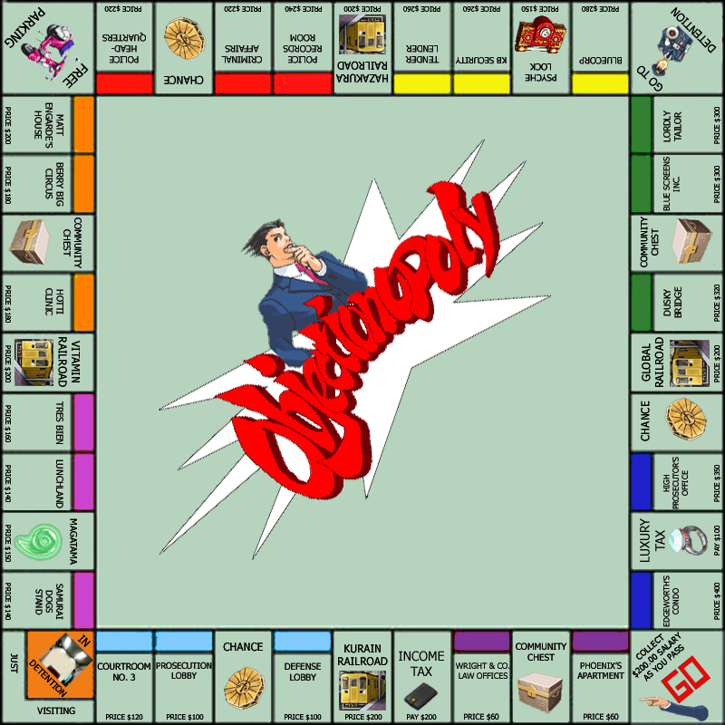 objectionopoly_by_lunaria42 phoenix wright apollo justice favourites by shadowfox9845 on,Phoenix Wright Memes