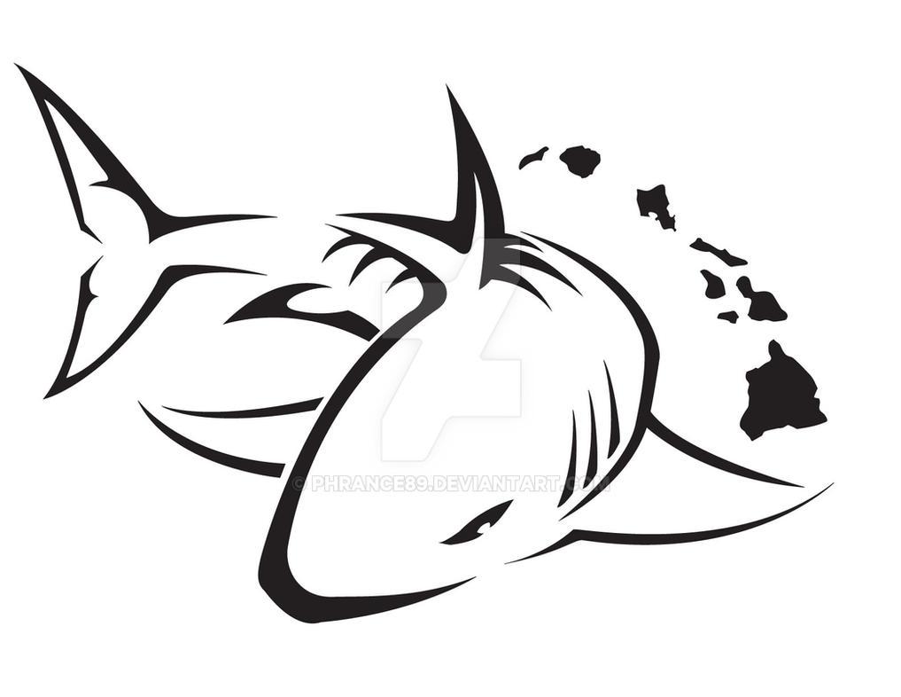 Line Art Tattoo Designs : Tribal shark tattoo design by phrance on deviantart
