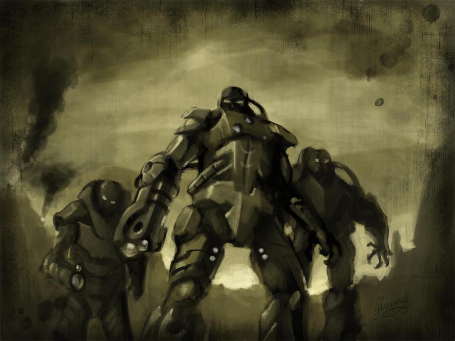Three executioners by Eidins