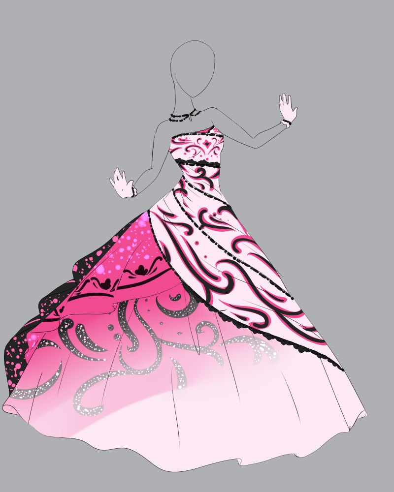 Cute Dress Drawing - YouTube |Pretty Clothes Drawings